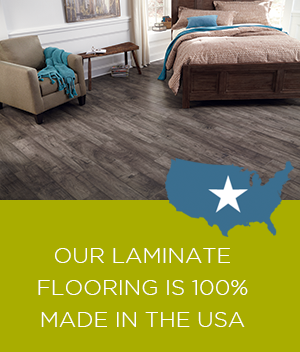 Mannington laminate is 100% made in the USA