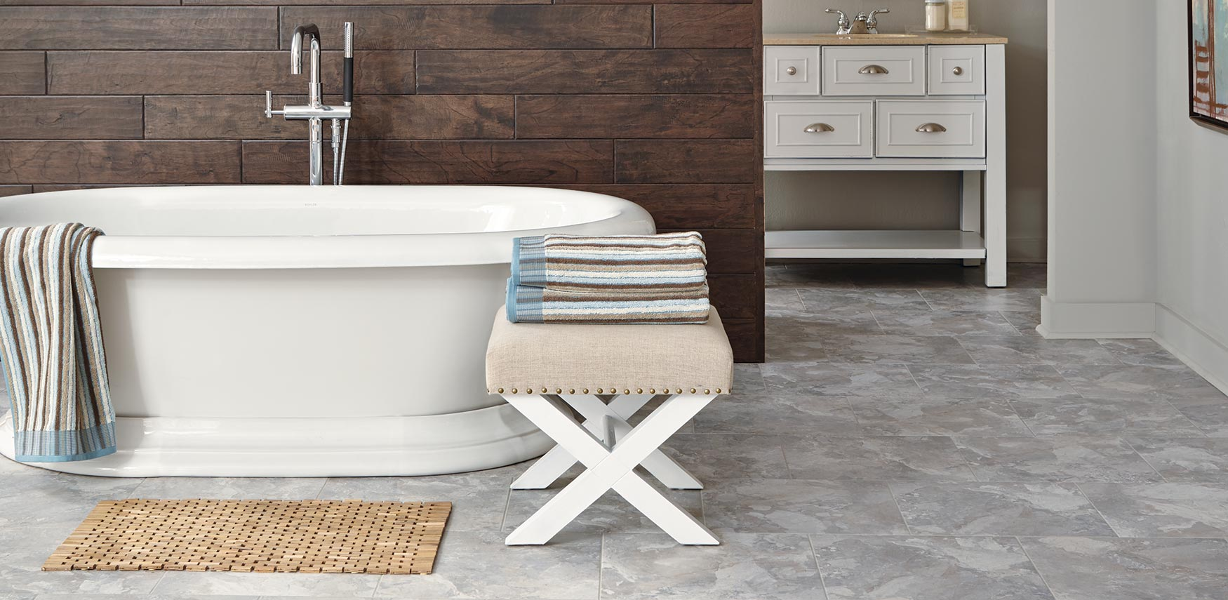 Bathroom sheet vinyl flooring - Residential Flooring