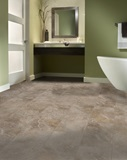 Tan Limestone Vinyl Tile Flooring for Bathrooms