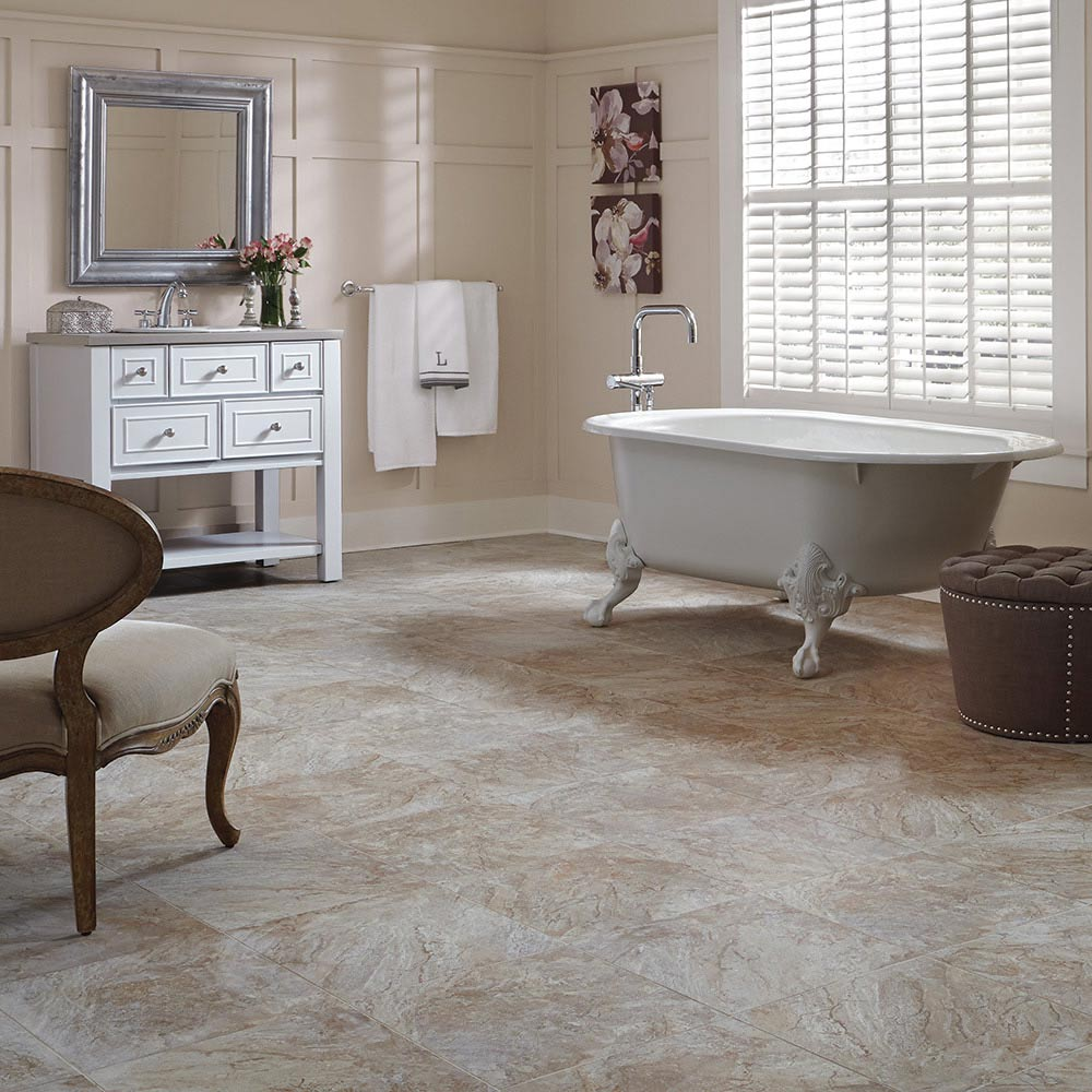 Bathroom floor vinyl tiles - Mannington Adura Luxury Vinyl Tile Century Pebble