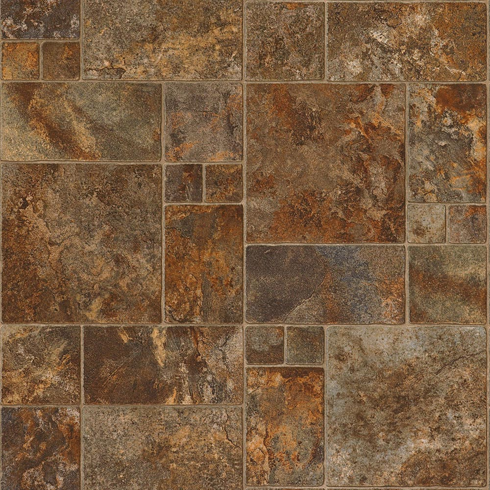 Color select resilient vinyl flooring choices for Patterned linoleum tiles