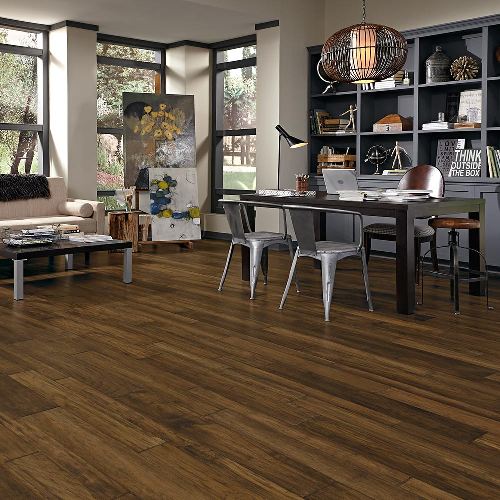 Engineered hardwood flooring Mountain View Hickory Bark
