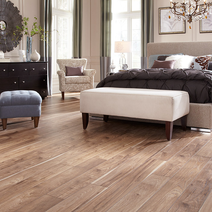 Hickory Laminate Flooring color gunstock Laminate Floor Home Flooring Laminate Options Mannington Flooring
