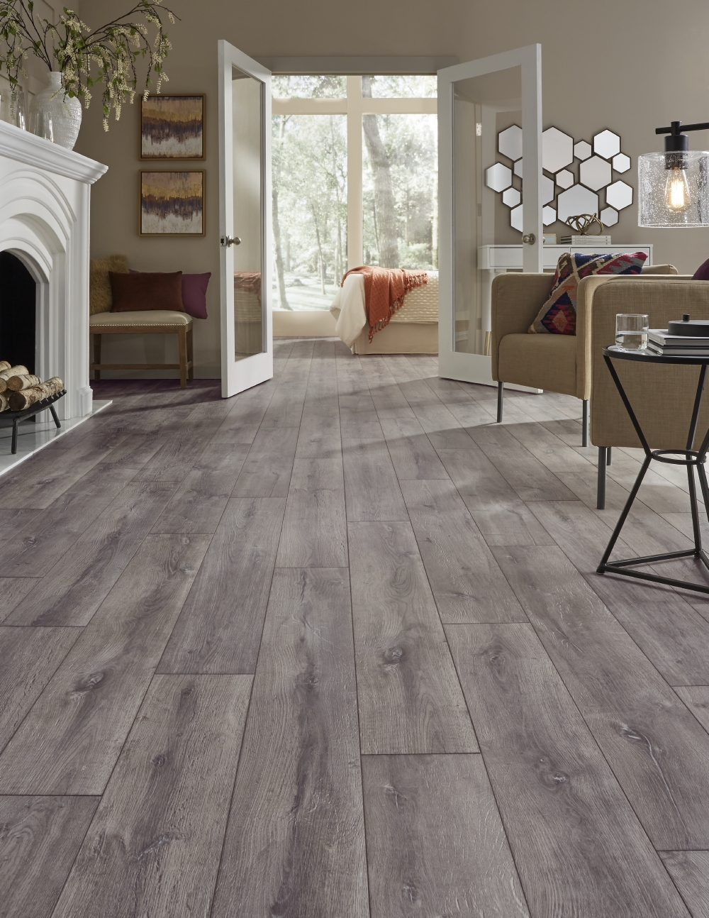 Flooring In House : Laminate floor blacksmith oak home flooring