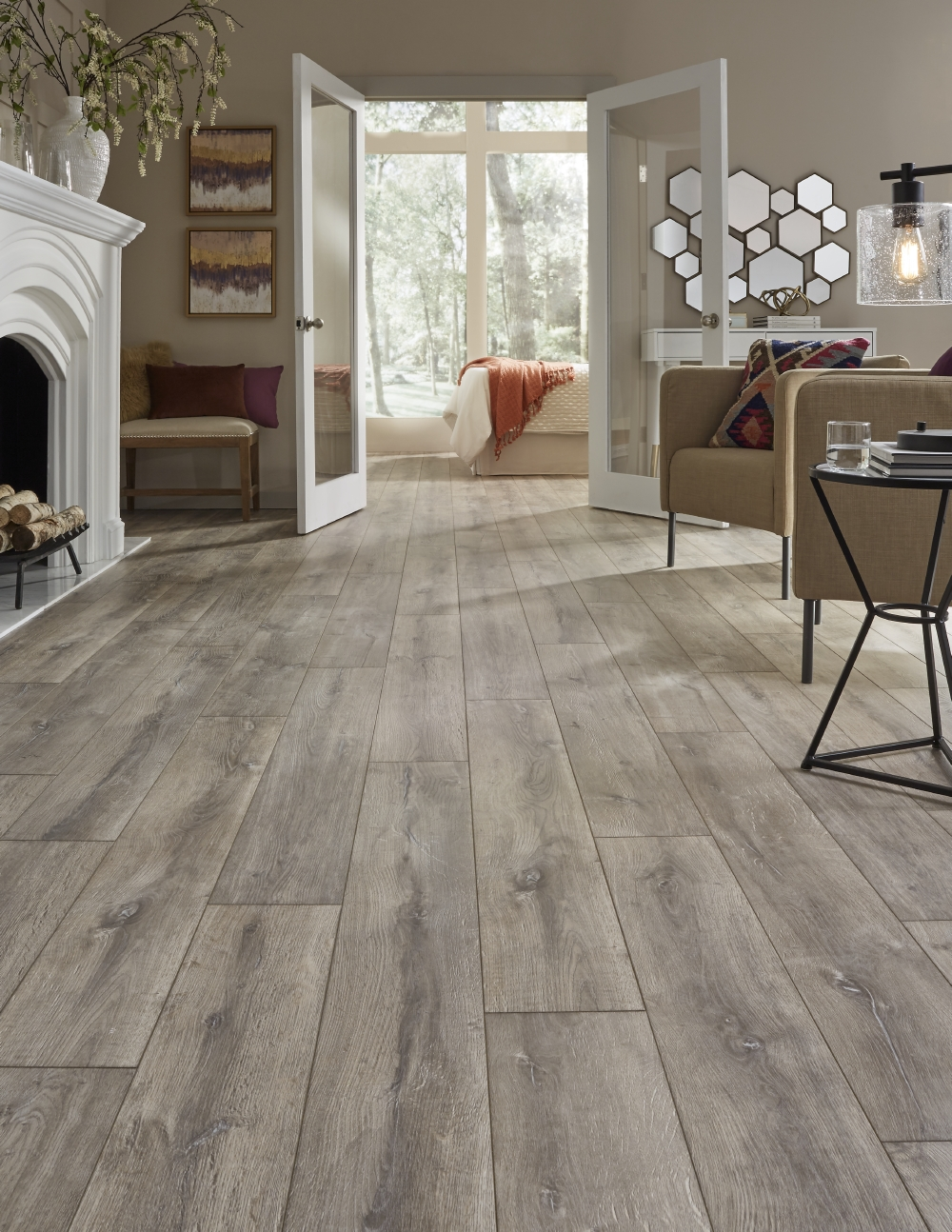 Laminate floor blacksmith oak home flooring laminate - Laminate or wood flooring ...