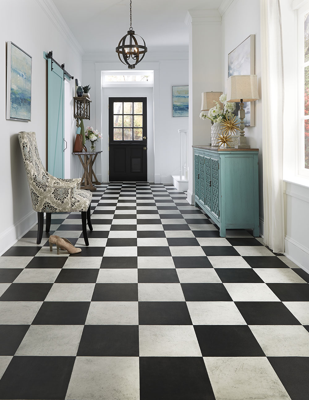 Luxury Vinyl Tile Sheet Floor Layout Design Inspiration