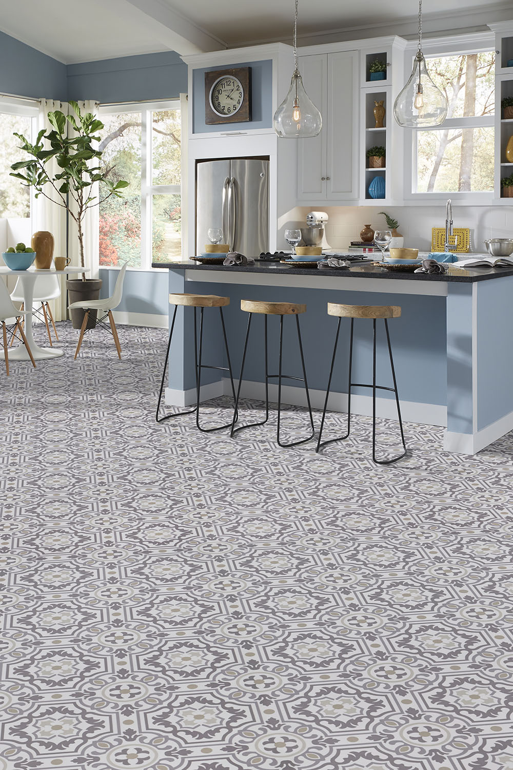Preferred Luxury vinyl tile sheet floor layout design inspiration for  CX77