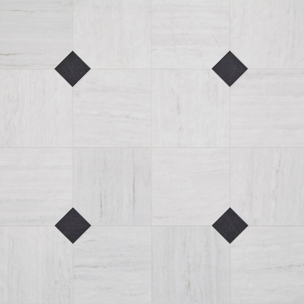 Luxury Vinyl Tile Sheet Floor Art Deco Layout Design Inspiration For - Black and white square vinyl flooring