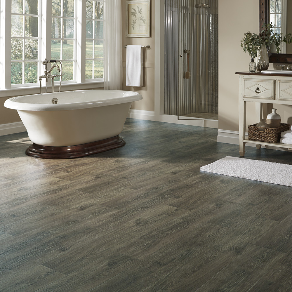 Resilient Vinyl Plank Flooring With Refined Oak Look
