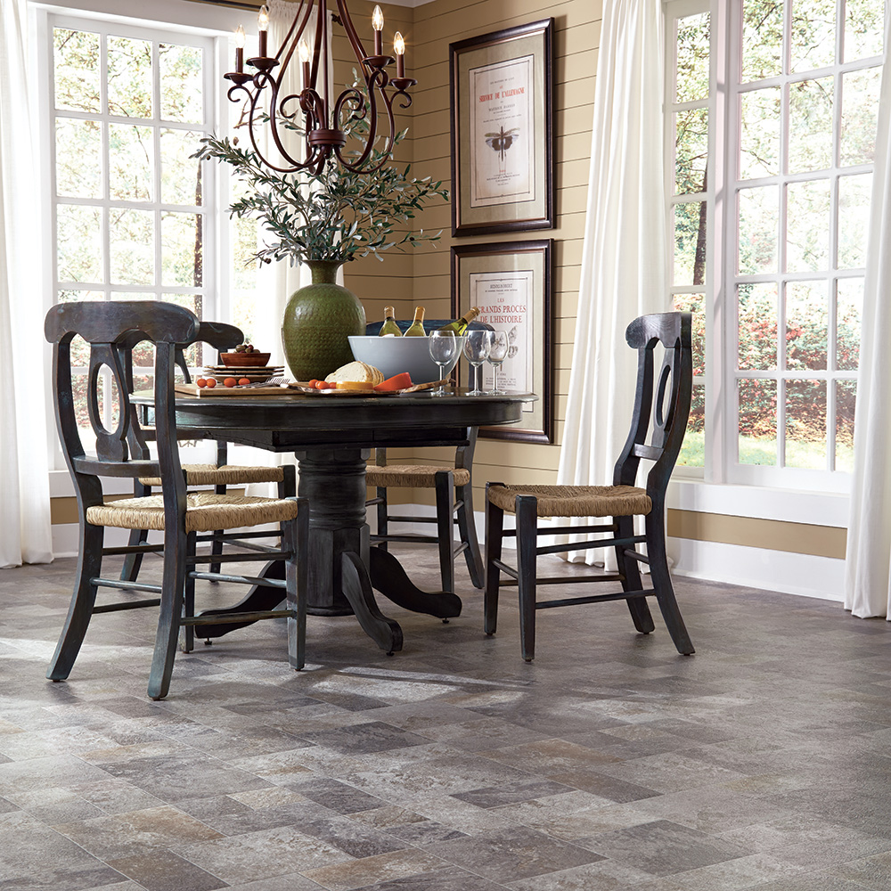resilient vinyl flooring – sensible, carefree floor - mannington