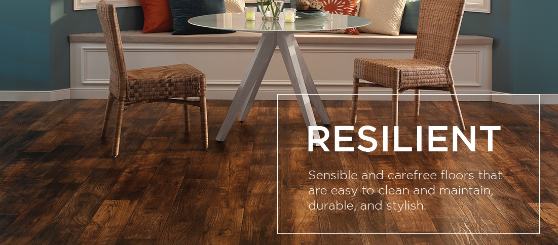 Resilient Vinyl Flooring Sensible Carefree Floor