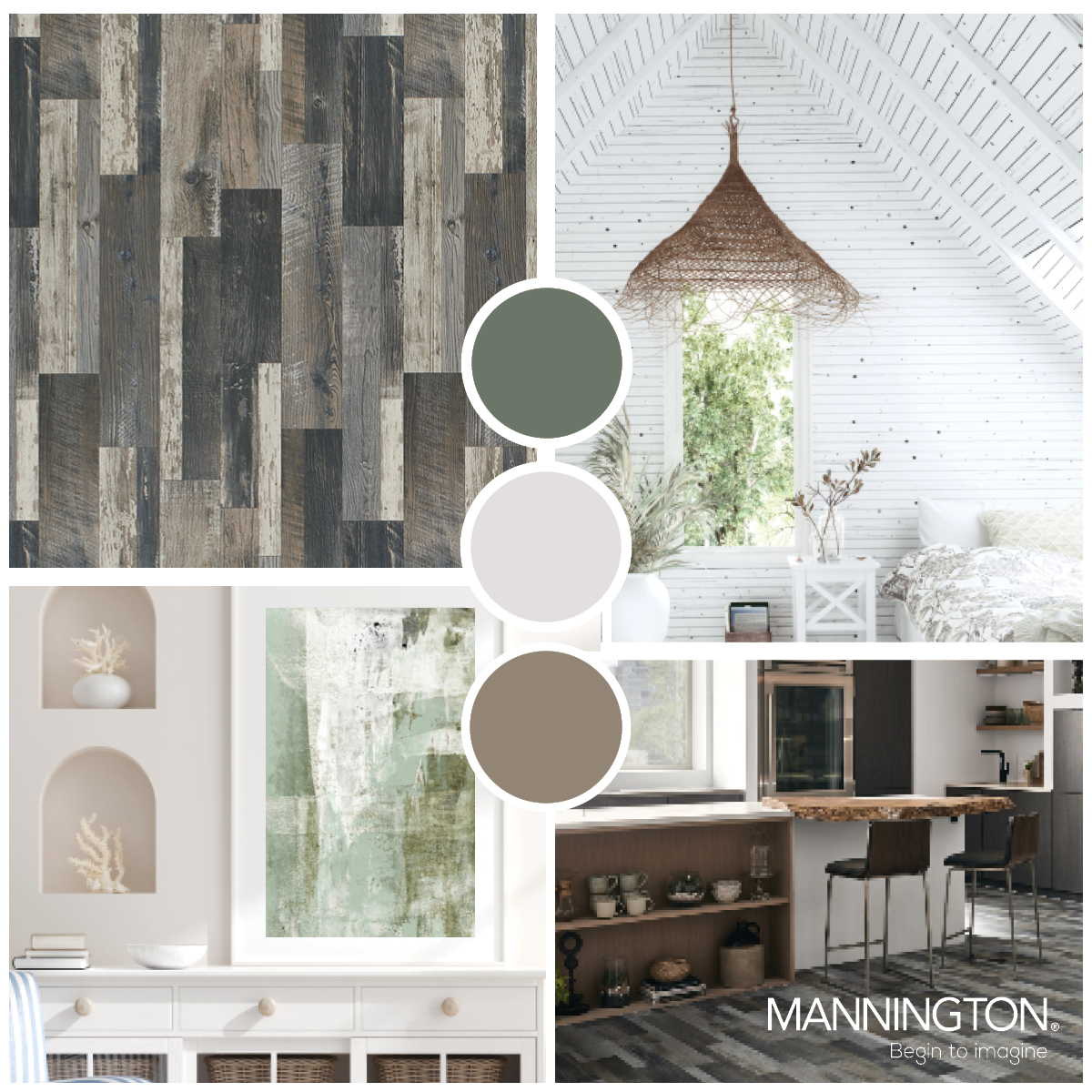 Luxury Vinyl Sheet Flooring Trend Board 2020