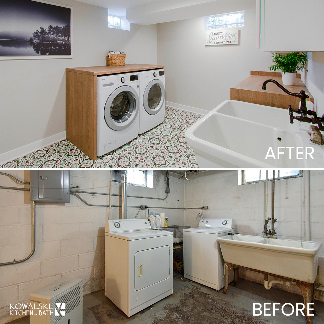 Laundry Room Renovation Before & After