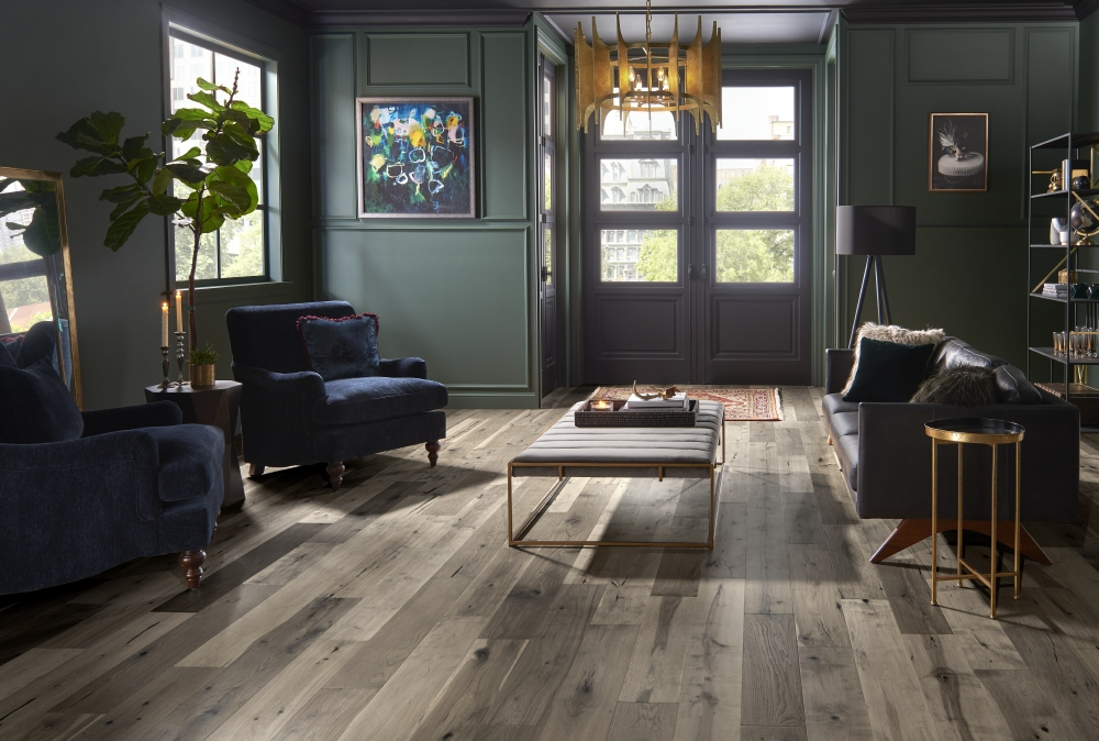 Rich Brown Hardwood Floors