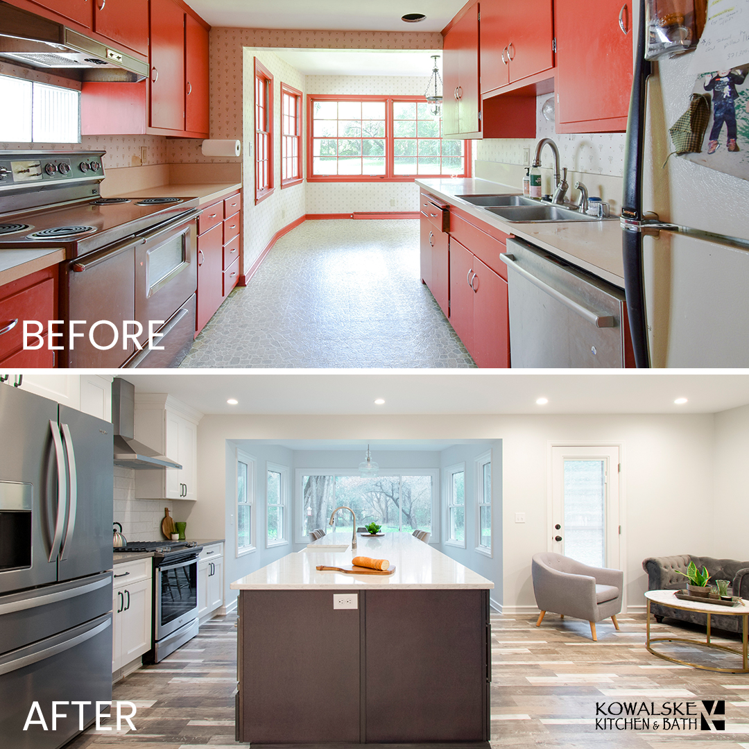 Kitchen Renovation Before & After