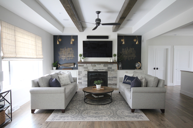 Modern Farmhouse Living Room Flooring