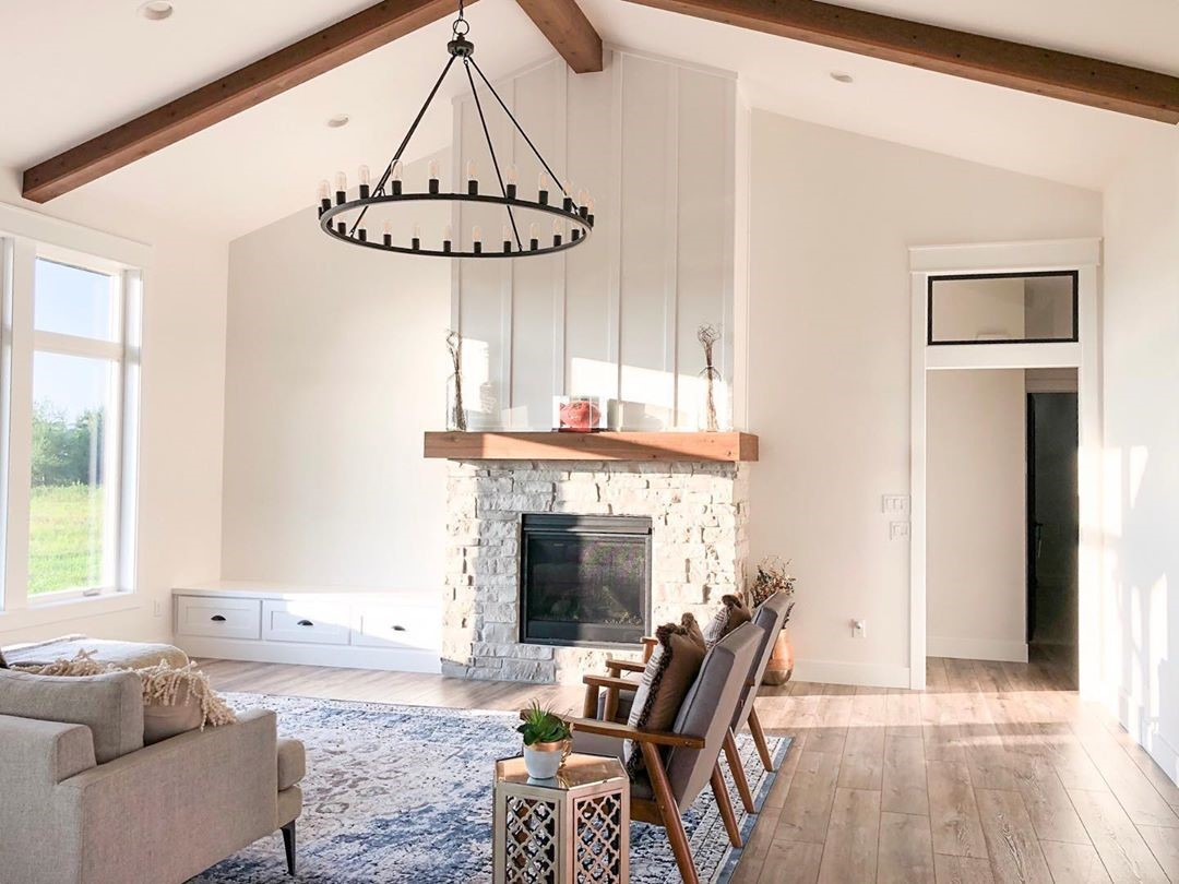 Modern Farmhouse with Laminate Wood Floors
