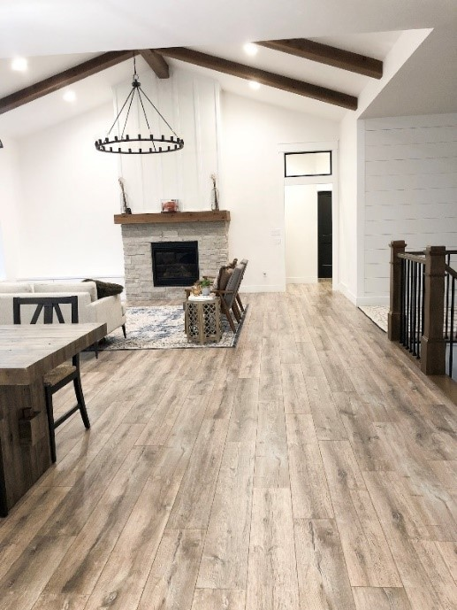 Modern Farmhouse with Fake Hardwood Flooring