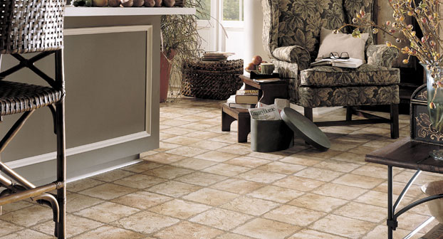 Mannington Indian Slate Sunstone with Adobe Resilient Flooring - 17200