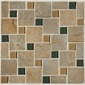 Mannington Accent Gallery Antiquity Patina Pinwheel Mosaic Porcelain Tile - AQ1PMM