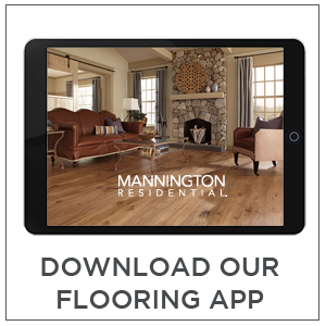 Downloading Mannington residential flooring app for brochures images and much more
