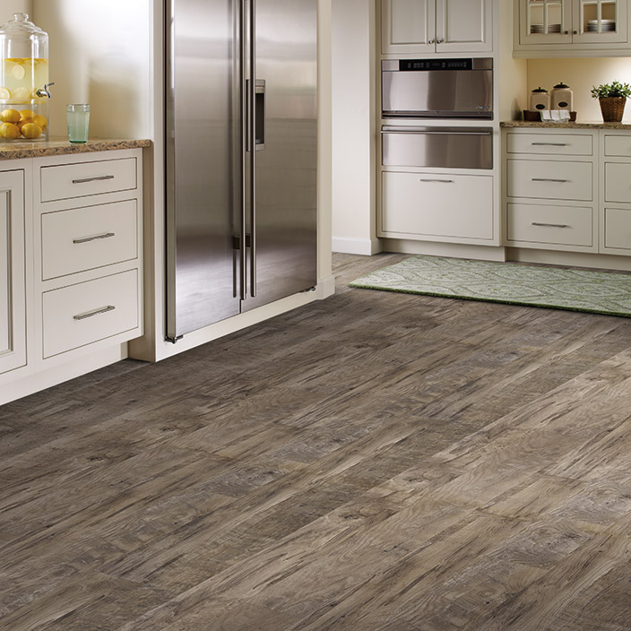Luxury vinyl tile and plank sheet flooring simple easy Luxury kitchen flooring