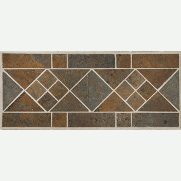 Mannington Accent Gallery Antiquity Iron Gate Border Porcelain Tile - AQ0B