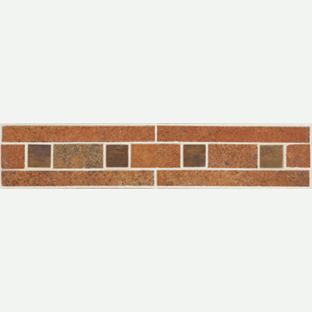 Mannington Accent Gallery Patchwork Rawhide Border Porcelain Tile - PW2