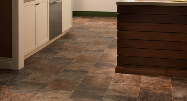 Mannington Cambridge Flagstone Resilient Flooring - DR170